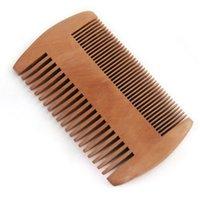 أدوات الفرشاة الطبيعية الخضراء الكمثرى الخشب الشعر مشط اللحية للرجال العناية مكافحة ساكنة العناية جولة فرشاة التنظيف