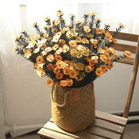 الزهور الزهور أكاليل pe 50 سنتيمتر صغيرة ديزي زهرة الاصطناعية الأزياء نمط لعيد الميلاد زفاف عيد الحب هدية غرفة المعيشة المنزل دي