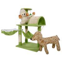 32 pulgadas de gato Torre de árbol Condominio Sisal Scratcher Muebles Gatito Casa de Pet Holder Titular de Lamb Sting Hammock Toy Regalo EE