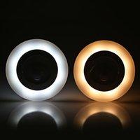 Интеллектуальный датчик человеческого тела света индукционная настенная лампа простые круглые светодиодные 80lm
