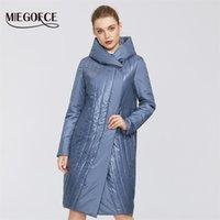 Miegofce 2020 Весна Женская Коллекция Ветерзащитная Куртка Хлопок Куртка Женщина Плащ с капотом средней длины LJ201017
