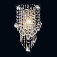 Luces levou E14 moderno espelho de cristal aço inoxidável luzes de luzes lâmpadas de lâmpadas de luminárias para o corredor sala de estar de cabeceira