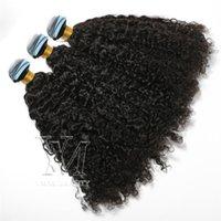 Brasilianisches VMAE 14 bis 26 Zoll Single gezeichnete benutzerdefinierte kinky lockige jungfrau Remy-Haar-menschliches Haar-Verlängerungsband in natürlicher Farbe Gute Klasse 11A