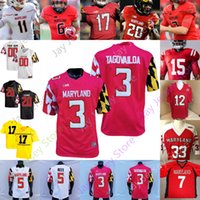 Maryland Terrapins Football Jersey NCAA College Javon Leke Dontay Demus Jr. Stefon Diggs Taulia Tagovailoa Jake Funk Jeshaun Jones Jackson