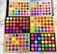 Hiçbir logo! 35 renkler ışıltı mat göz farı paleti uzun ömürlü glitter göz farı paletler ışıltı mat çıplak pigment logonuzu kabul