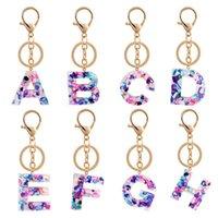 26 Lettre Keychain Alphabet Key Ring Chaîne Chaîne Mode Bracelet Porte-clés Bracelet Bracelet Key Organisateur Titulaire Dessin animé Accessoires LLS296