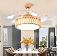 Decorazione camera da letto LED LED Ventilatore a soffitto invisibile Lampada da pranzo Sala da pranzo Ventilatori a soffitto con luci Lampade a controllo remoto per soggiorno