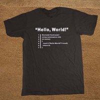 Hello World Geek 팀 프로그래머 Unisex 재미있는 T 셔츠 Tshirt 남자 코튼 짧은 소매 티셔츠 탑 티셔츠 Y200409