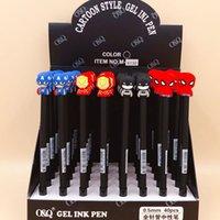 36 Pz / lotto Hero Series Penne Gel Carino 0.5mm Inchiostro Nero Signature Pen Materiale Cartoleria Dono regalo Scuola di regalo Forniture per scrittura 201202