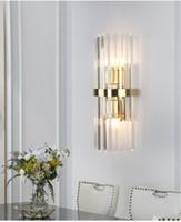 Moderno Lampada da parete di cristallo a LED Lampada da parete Gold Home Decor Lighting Lighting Lighting Bedroom Corroney Sconce