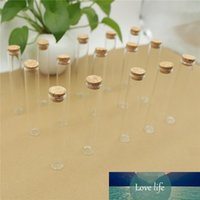 50 unids / lote mini botella de cristal 22 * 120 mm 35 mm 35 mm Tubo de prueba Tapón de corcho Especias de especias Envase pequeño DIY Frascos Viales Tiny Botellas de vidrio