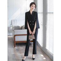 نساء قطعتين السراويل بدلة صغيرة المرأة النمط البريطاني الربيع والصيف 2021 الأزياء مزاجه حزام الأعمال التجارية Wei-2