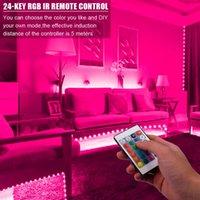 Tira de luz de alta qualidade plástica de 300-LED 24W RGB IR44 ajuste com controlador remoto do IR (placa branca da lâmpada) Tops do diodo emissor de luz do material superior