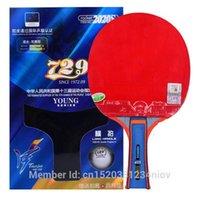 الأصلي 729 مضرب الانتهاء يونغ 2020 ثانية مضرب تنس الطاولة حلقة عالية السرعة نمط جديد التعبئة مع حالة واحدة الكرة المضرب