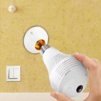 كاميرات ضوء لمبة الأمن كاميرا IP WIFI 360 درجة بانورامية فيش المنزل طريقتان صوت لاسلكي للتحكم عن بعد مراقبة الفيديو