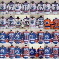 Edmonton 7 Paul Coffey Vintage CCM Jersey 31 Grant Fuhr Oilers 89 Sam Gagner 17 Jari Kurri 99 Wayne Gretzky 11 Mark Messier 30 Bill Ranford