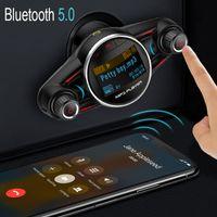 FM الارسال اللاسلكية بلوتوث 5.0 سيارة مشغل mp3 aux استقبال الصوت TF USB الموسيقى مشغلات USB شاحن
