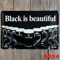 Nuova Guiness Black Beer Birra Segni di latta Retrò Metal Iron Plate Pittura Decorazione della parete per Bar Cafe Home Club Pub Birra 20 * 30 cm