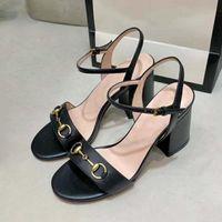 Designer verão sapatos mulheres sexy moda alto salto alto salto de espessura nova mulheres elegante vestido sapatos de escritório sapatos de trabalho grande tamanho 40 41