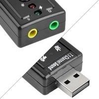 JP209-B CM108 MINI USB 2.0 3D внешний 7.1 канал звук виртуальный 12 Мбит / с аудио звуковой картой адаптер высокого качества