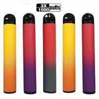 2 в 1 прибор стручков Одноразовые Vape Pen 2000pufs пакет коробка одноразовые электронные сигареты 5% POD MAH аккумуляторный картридж пустой испаритель OEM сделан B