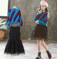Fashion Enfants Princess Ensembles Girls Love Coeur Pull à manches longues Pull à manches longues + TULLE TULLE TULLE TULLE TULLE TUTU 2PCS 2PCS TENUE A5356