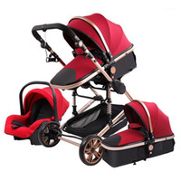 High- view multifunctional stroller can sit, recline, 360- deg...
