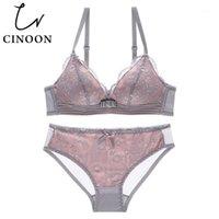 Cinúncio Novo Sexy Intimates Sutiã Set Fio Fio Underwear Lace Lace Lingerie Push Up Bralette Confortável Bra e Sets Panty1
