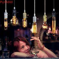 New Edison Chastelier Bulb AKA Углеродная нить Лампы Шелковая лампочка Античный свет Эдисон легкие лампы накаливания от DHL