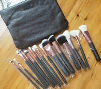Nueva venta de maquillaje caliente z.o.eva cepillo 15pcs / set Professional Makeup Brush Set Sombreado de ojos Eyeliner Mezcla Lápiz Cosméticos Herramientas con bolsa