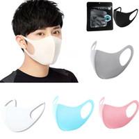 키즈 방지 얼굴 마스크 성인 PM2.5 마스크 방진 세탁 가능한 재사용 가능한 얼음 실크 코튼 마스크 어린이 남성과 여성 마스크 DHL 선박 HH9-2996