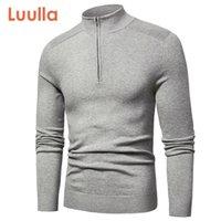 Luulla Men Spring Новый повседневная хлопковая водолазка для стольки свитера Pullover Men Осень мода вязаная ZIP свитер куртка мужчины коллекция LJ200916