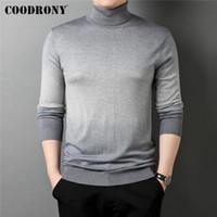 Мужские свитера Coodrony бренд весна осень высококачественный градиент цвет с длинным рукавом мягкий трикотаж.
