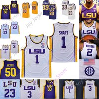맞춤형 LSU 농구 유니폼 NCAA College Darius Days James Bishop Maravich Bob Pettit Simmons Eric Gaines Josh Leblanc Sr. Jalen Cook