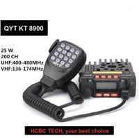 Walkie Talkie QYT KT8900 MINI Radio de voiture 25W 136-174MHz 400-480MHz Dual Band Gama émetteur-récepteur monté de véhicule QYT-8900 KT-8900 QYT89001