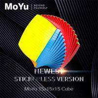الترويجي moyu 15 طبقات 15x15x15 مع هدية مربع أسود ممتاز مكعب سرعة السحر لغز 15x15 التعليمية كوبو ماجيكو اللعب للطفل Y200428