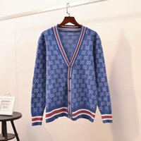 HGTE 가을 겨울 카디건 스웨터 여성 니트 캐주얼 패션 얇은 코트 스웨터 느슨한 단일 행 버튼 V 넥 카디건 스웨터 201127
