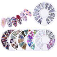 Nail Art Ab Strass Kit Charms Glitter Paillettes Set Set Diamonds Stuss Rivetti Gemme per il trucco di bellezza per unghie