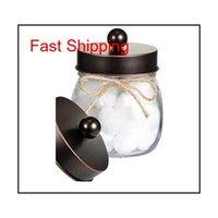 70 мм Mason Jar Antique Antique Apottecary Lids Vanity Организатор - серебряный масло натерта бронзовая матовая черная канистра GL QYLSQX Hairclippersshopshopshop