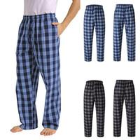 Мужские брюки мода Повседневная пледа Свободные Спорт Пижама Брюки Гарем Мужские Jogger Streetwear