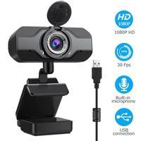 Webcams Full HD 1080p Webcam USB grandangolare con microfono Web Cam Portatile per computer portatile Tecnologia per conferenze online Telecamere Anti Peeping WebCame1