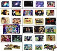 Billig Rolling Tray Cartoon Fach 180mm * 125mm Metallschale Metall Tabak Messing Platte Herb Handrecher für Raucherrohre Großhandel