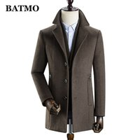 BATMO new arrival winter high quality wool thicked trench coat men,men's wool thicked jackets ,k627 201126