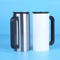 Оптовая продажа 16 унций 450 мл белый пустой теплопередача печать пива кофейная кружка изолированный вакуум сублимационный питьевой воды