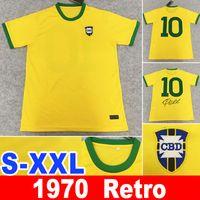 1970 retro Pelé PELE 1970 jerseys bele 1998 retro # 10 Pelé PELE CLASSIC Carlos Romario Soccer Jersey XXL camisa de futebol