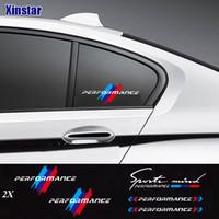 2pcs m Power Power Performance Car Windows Sticker pour BMW E36 E39 E46 E60 E61 E64 E70 E71 E85 E87 E90 E83 F10 F20 F21 F30 E80 M3 M5