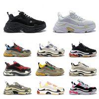 Triple S Multi De Luxe Triple S Designer Bas Vieux Papa Sneaker Combinaison Semelles Bottes Hommes Femmes Mode Casual Chaussures Haute Haute Qualité Taille 36-45