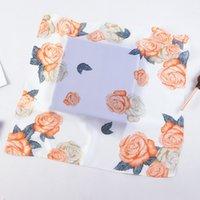 Versión coreana Bufanda de las 53 cm de seda Lily Lily Peony Flower Ladies Pequeñas bufandas cuadradas estudiante A11