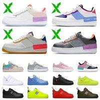 Top Moda 1 Uma Sombra Mulheres Running Sapatos Air Homens Trainers Air \\ RFORCE WHITE OFF MCA University Blue Forces Designer Sneakers