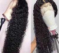 DIVA1 딥 웨이브 레이스 프론트 가발 인간의 머리 가발 Black Women HD Form Frontal 360 레이스 프론트 가발에 대 한 150 % 밀도 곱슬 브라질